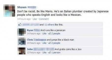 Don't be racist,be like Mario